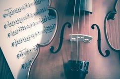 Hora de praticar o violino Imagem de Stock Royalty Free