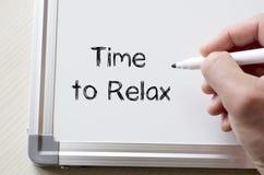 Hora de relajarse escrito en whiteboard Fotografía de archivo libre de regalías