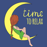 Hora de relaxar Fotografia de Stock Royalty Free