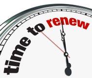 Hora de renovar - el reloj Imágenes de archivo libres de regalías