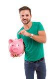 Hora de salvar para a aposentadoria! Imagens de Stock Royalty Free