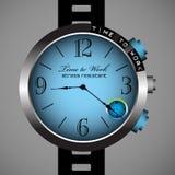 Hora de trabalhar o relógio Fotografia de Stock Royalty Free