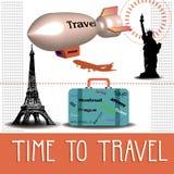 Hora de viajar Imágenes de archivo libres de regalías