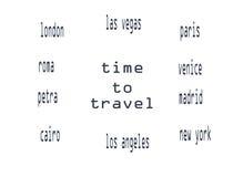 Hora de viajar círculo Stock de ilustración