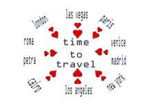Hora de viajar círculo Libre Illustration