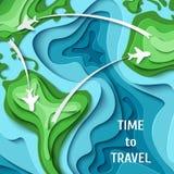 Hora de viajar fondo del concepto del viaje