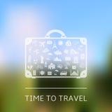 Hora de viajar Fondo del vector Fotos de archivo libres de regalías