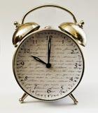 Hora del despertador del reloj décima Fotos de archivo