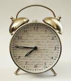 Hora del despertador del reloj décima Imágenes de archivo libres de regalías