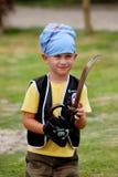 Hora del recreo del muchacho fotografía de archivo