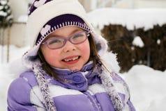 Hora del recreo en la nieve fotos de archivo