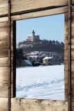 Hora di Kuneticka della fortezza in inverno Fotografia Stock