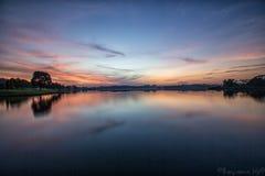 A hora do azul da manhã Imagem de Stock Royalty Free
