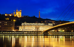 Hora do azul de Lyon Imagens de Stock