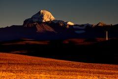Hora do nascer do sol de Mount Kailash Foto de Stock