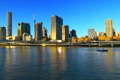 Hora dourada de Brisbane foto de stock