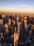 Hora dourada de New York imagens de stock