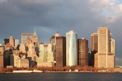 Hora dourada, Manhattan Fotos de Stock Royalty Free