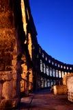 Hora dourada no amphitheatre romano fotos de stock royalty free