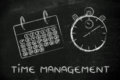 A hora e a gestão do projeto para o negócio global, calendar Fotos de Stock Royalty Free