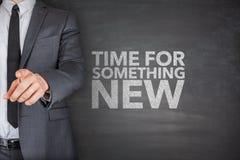 Hora para algo novo no quadro-negro Imagem de Stock Royalty Free
