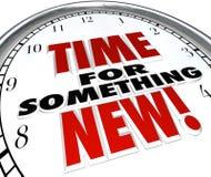 Hora para algo nuevo cambio de la mejora de la actualización del reloj Fotografía de archivo libre de regalías