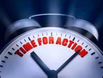 Hora para a ação Imagem de Stock