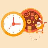 Hora para comprar Ilustração Stock