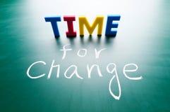 Hora para el cambio Fotos de archivo
