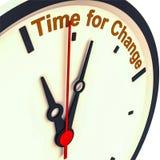 Hora para el cambio Imagen de archivo libre de regalías