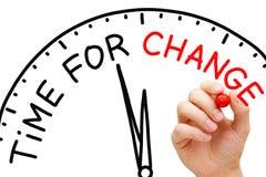 Hora para el cambio imágenes de archivo libres de regalías