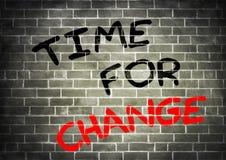 Hora para el cambio ilustración del vector