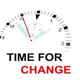 Hora para el cambio Fotos de archivo libres de regalías