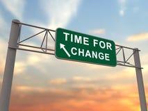 Hora para el cambio - muestra de la autopista sin peaje Fotografía de archivo libre de regalías
