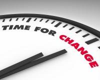Hora para el cambio - reloj Imagen de archivo libre de regalías