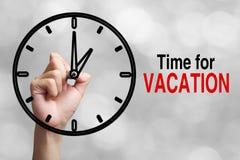 Hora para el concepto de las vacaciones Imagen de archivo