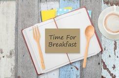 Hora para el desayuno Imágenes de archivo libres de regalías