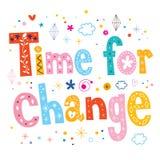 Hora para el diseño del texto de las letras de la tipografía del cambio Fotos de archivo libres de regalías