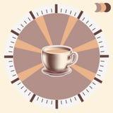 Hora para el infographics del café Fotos de archivo