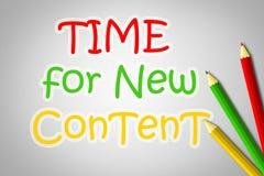 Hora para el nuevo concepto contento Imagenes de archivo