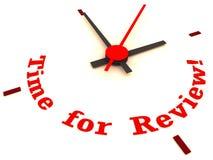 Hora para el reloj de la revisión
