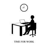 Hora para el trabajo Foto de archivo