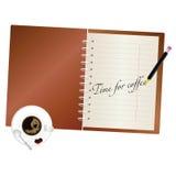 Hora para el vector del arte del café Foto de archivo libre de regalías