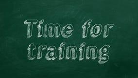Hora para entrenar