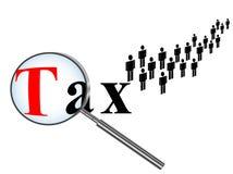 Hora para impostos Fotografia de Stock