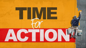 Hora para la acción Fotos de archivo libres de regalías