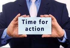 Hora para la acción Imagen de archivo
