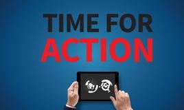 Hora para la acción Imágenes de archivo libres de regalías