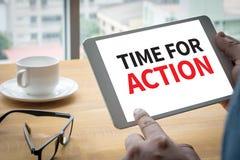 Hora para la acción Foto de archivo libre de regalías