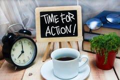 Hora para la acción Texto de motivación Fotografía de archivo libre de regalías